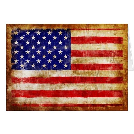la bandera americana antigua se descoloró debido a tarjeton