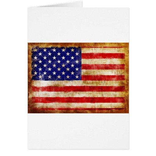 la bandera americana antigua se descoloró debido a tarjeta