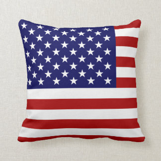 La bandera americana cojines