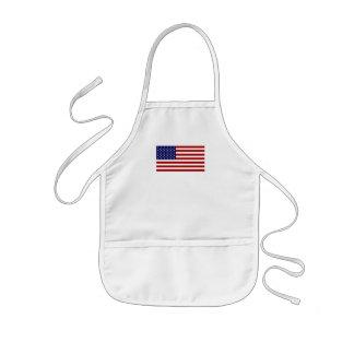 La bandera americana delantal infantil