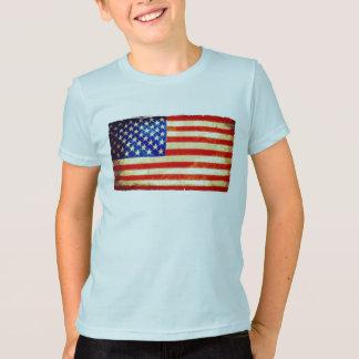 La bandera americana embroma la camiseta - barras