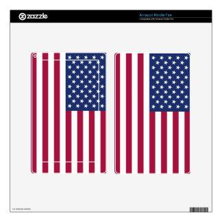 La bandera americana enciende el fuego pegatinas skins para kindle fire