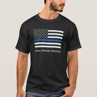 La bandera americana enrarece Blue Line Playera