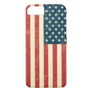 La bandera americana envejecida se descoloró funda iPhone 7
