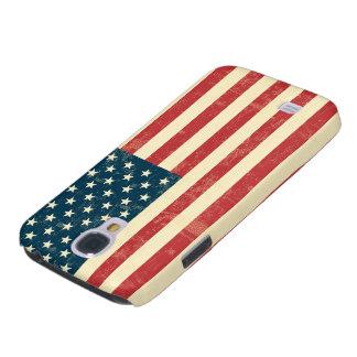 La bandera americana envejecida se descoloró funda para galaxy s4