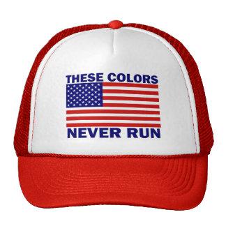 La bandera americana estos colores nunca funciona  gorros bordados
