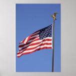 La bandera americana impresiones