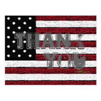 La bandera americana le agradece la postal (gris)