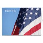 La bandera americana le agradece tarjeta de felici