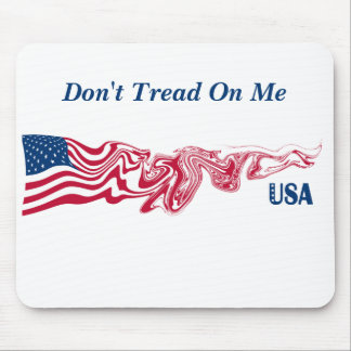 La bandera americana los E.E.U.U. del remolino Alfombrilla De Ratón