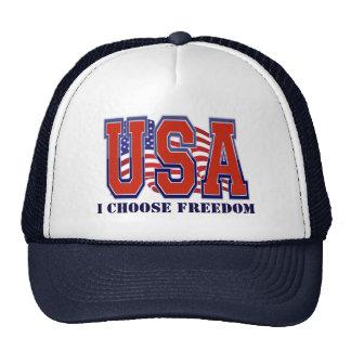 La bandera americana los E.E.U.U. elijo la Gorro De Camionero