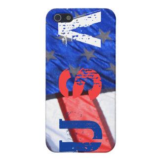 La bandera americana los E.E.U.U. refresca diseño  iPhone 5 Fundas