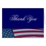 La bandera americana patriótica le agradece las ta tarjetón