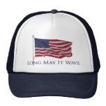 la bandera americana patriótica   puede él agitar  gorras