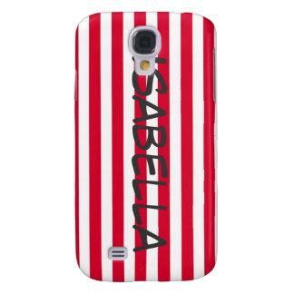La bandera americana roja y blanca LINDA raya Pern Funda Para Galaxy S4