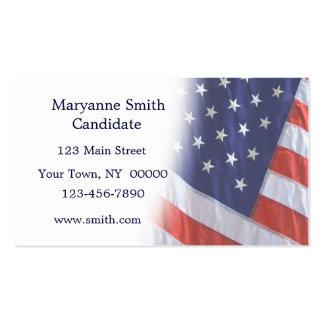 La bandera americana se descolora tarjeta de visit