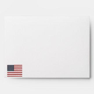 La bandera americana sobre