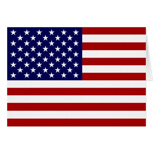 La bandera americana tarjeta de felicitación
