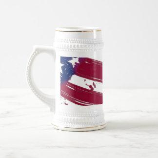 La bandera americana tazas de café