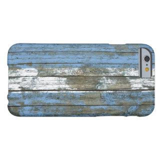 La bandera argentina en la madera áspera sube a funda de iPhone 6 barely there