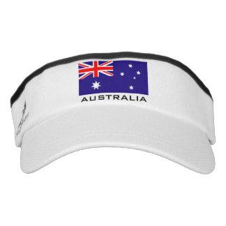 La bandera australiana se divierte el gorra del visera