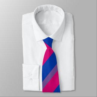La bandera bisexual del orgullo colorea LGBT Corbata Personalizada