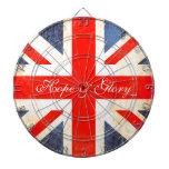 La bandera BRITÁNICA antiqued esperanza del estilo Tablero De Dardos