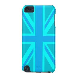 La bandera británica de Union Jack de la turquesa  Funda Para iPod Touch 5G