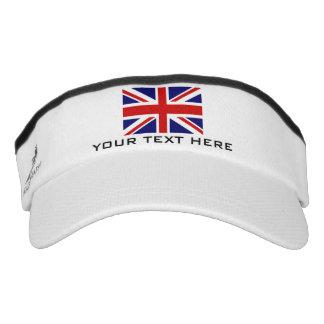 La bandera británica de Union Jack se divierte el Visera