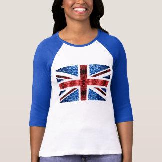 La bandera BRITÁNICA roja y el azul chispea los Playera