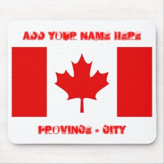 La BANDERA CANADIENSE, añade su nombre aquí, provi Alfombrillas De Ratón