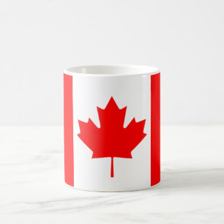 La bandera canadiense, Canadá Taza Básica Blanca