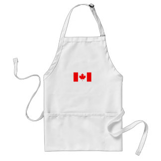 La bandera canadiense - recuerdo de Canadá Delantal