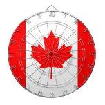 La bandera canadiense - recuerdo de Canadá Tablero De Dardos