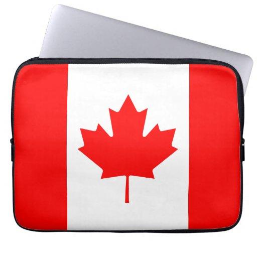 La bandera canadiense - recuerdo de Canadá Funda Portátil