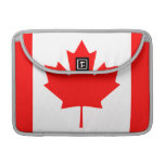 La bandera canadiense - recuerdo de Canadá Funda Para Macbook Pro