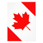 La bandera canadiense - recuerdo de Canadá Comunicado Personalizado