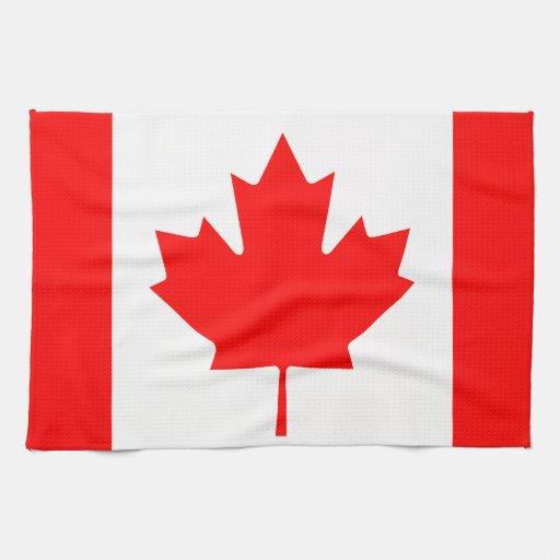 La bandera canadiense - recuerdo de Canadá Toallas De Cocina