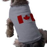 La bandera canadiense - recuerdo de Canadá Playera Sin Mangas Para Perro