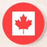 La bandera canadiense - recuerdo de Canadá Posavasos Diseño