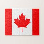 La bandera canadiense - recuerdo de Canadá Puzzles