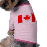 La bandera canadiense - recuerdo de Canadá Ropa Perro