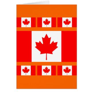 La bandera canadiense - recuerdo de Canadá Tarjeta De Felicitación