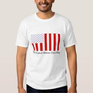 La bandera civil de Estados Unidos Remeras