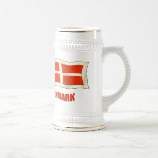 La bandera Dansk del vintage de Dinamarca aviva lo Taza De Café