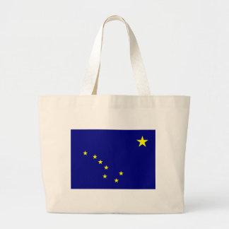 La bandera de Alaska Bolsa Tela Grande