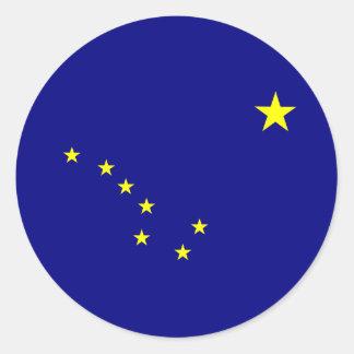 La bandera de Alaska Pegatina Redonda