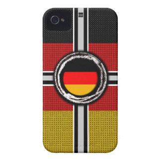 La bandera de Alemania graba en relieve la caja de Case-Mate iPhone 4 Coberturas