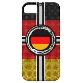 La bandera de Alemania graba en relieve la caja de iPhone 5 Case-Mate Cárcasa