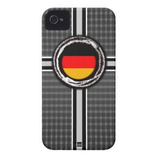 La bandera de Alemania graba en relieve la caja gr iPhone 4 Case-Mate Carcasas